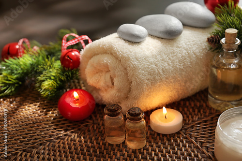 Spa treatment with Christmas decorations © Africa Studio