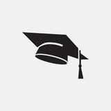 Graduation cap icon illustration