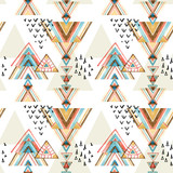 Abstract watercolor ethnic seamless pattern.