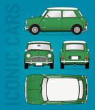 Classic car blueprint