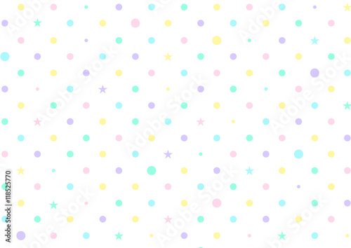 Pastel Colorful Dots White Background Vector Illustration - 118525770