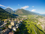 Sondrio - Valtellina (IT) - Panoramica dei vigneti in Frazione Sant