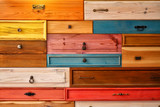 Fototapety Colorful Wooden Drawer