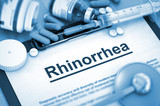 Rhinorrhea. Medical Concept.