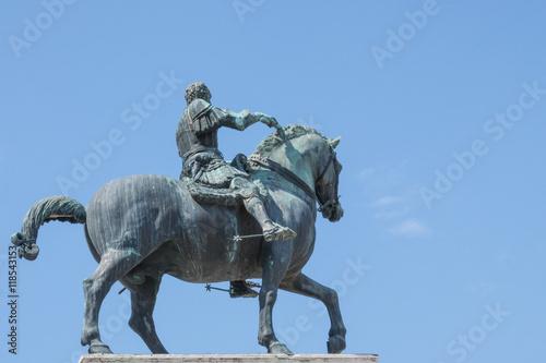 Equestrian statue of Gattamelata in Padua, Italy Poster