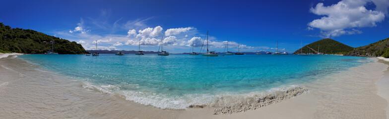 Tropical beach in British Virgin Island (BVI), Caribbean