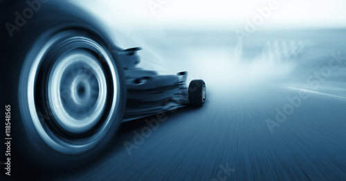 Aluminium F1 3d render, formula one car concept