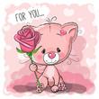 Greeting card cute Cat