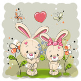 Rabbit boy and girl