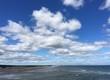 dramatic sky over Ogunquit beach in Maine