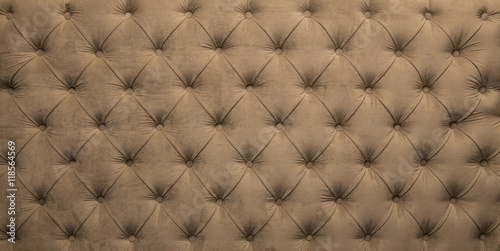 Poster Beige capitone tufted fabric upholstery texture