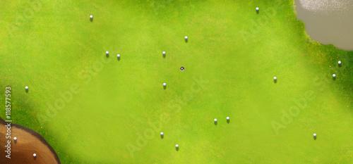 Foto op Aluminium Lime groen Golf course