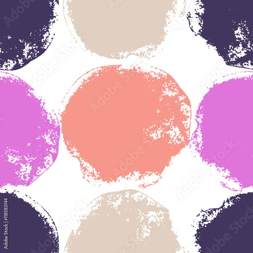 Seamless bright background. Decorative pattern with drawn circles - 118583144