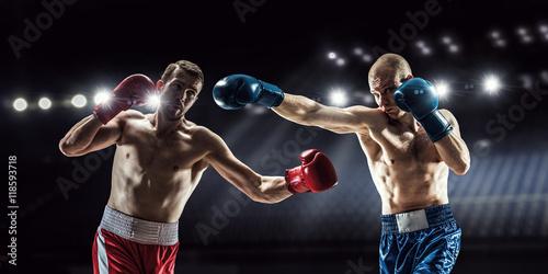 Staande foto Professional box match . Mixed media