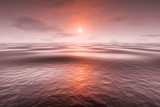 a red sunset over the sea