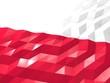 Flag of Poland 3D Wallpaper Illustration - 118605132
