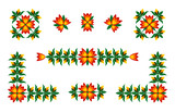 folk flowers pattern