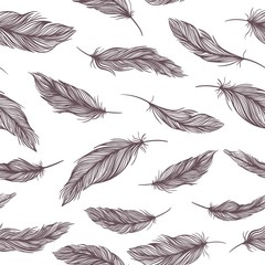 Vector Feather Pattern