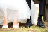 Fototapety Brautpaar Schuhe