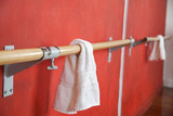 Napkin Hanging On Bar By Wall