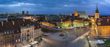 Fototapety Night Panorama of  Old Town in Warsaw, Poland