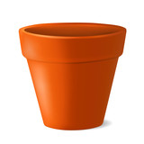 Fototapety Empty flowerpot vector illustration