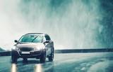 Driving Car in Heavy Rain - 118652968