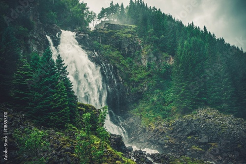 Fototapeta Scenic Norwegian Waterfall