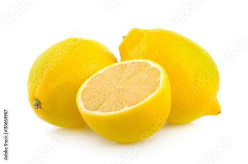 Poster lemon on white background
