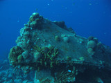 Wreck in Caribbean sea, Bonaire.