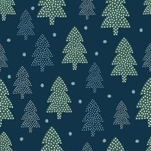 Wzór Bożego Narodzenia - Xmas drzewa i śnieg. Happy New Year charakter bez szwu tła. Konstrukcja lasu do ferii zimowych. Vector zimowe wydrukować dla przemysłu włókienniczego, tapety, tkaniny, tapety.