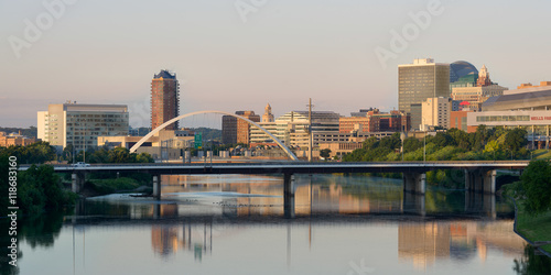 Downtown Des Moines and the Des Moines River Poster