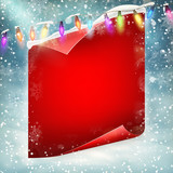 Merry Christmas greeting card template. EPS 10