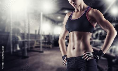 Fotobehang Fitness Athletic girl