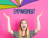 Empowerment concept with young woman