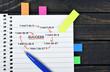 Success scheme on notepad