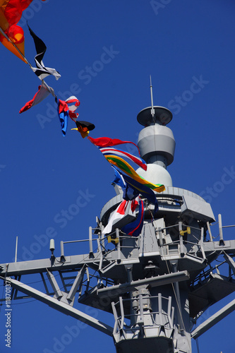 Poster Bridge and signal flags