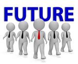Future Businessmen Shows Forecasting Vision 3d Rendering