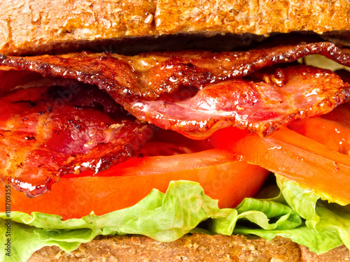 Poster juicy bacon lettuce and tomato sandwich