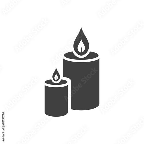 Zdjęcia na płótnie, fototapety, obrazy : Vector Illustration of a Candle Icon