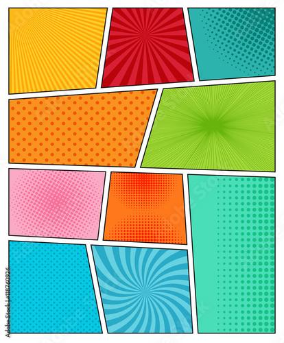 Big set of comic book backgrounds - 118760926