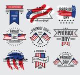 Patriot day vector set. September 11