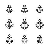 Anchor vector icons