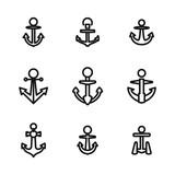 Anchor vector icons