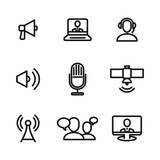 news vector icons