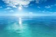 a beautiful blue sea background