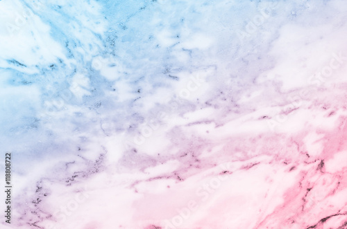 Pastel blue and pink marble stone texture background
