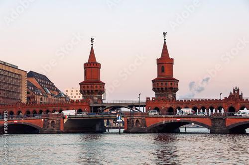 Naklejka Oberbaum bridge in Berlin
