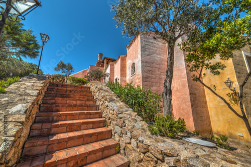 Picturesque stairs in Sardinia