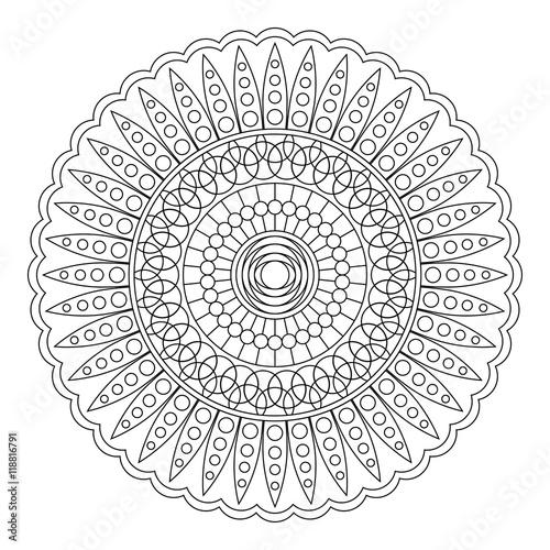 Floral mandala, vector illustration